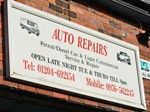 Auto Repairs Sign